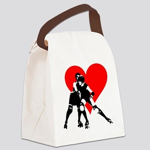 RCRD.evahitsheart Canvas Lunch Bag
