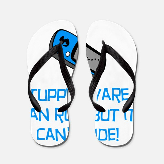 Geocacher Run Cant Hide Blue Flip Flops