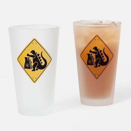 godzilla2011-small Drinking Glass