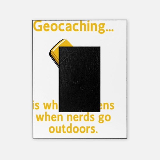 Geocaching Nerds Yellow Picture Frame