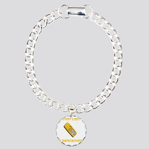 Not Lost Geocaching Yell Charm Bracelet, One Charm