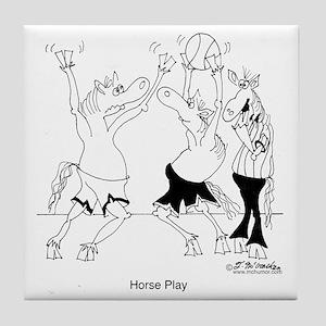 6626_horse_cartoon Tile Coaster