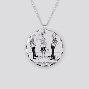 6731_referee_cartoon Necklace Circle Charm