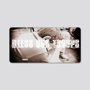 Bless Our Troops Aluminum License Plate
