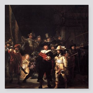 "The Nightwatch Square Car Magnet 3"" x 3"""