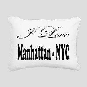 ladies_i_love_manhattan_ Rectangular Canvas Pillow