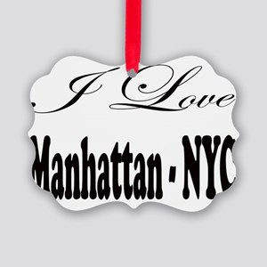 ladies_i_love_manhattan_nyc Picture Ornament
