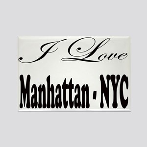 ladies_i_love_manhattan_nyc Rectangle Magnet