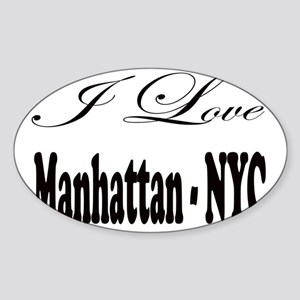 ladies_i_love_manhattan_nyc Sticker (Oval)