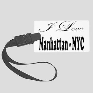 ladies_i_love_manhattan_nyc Large Luggage Tag