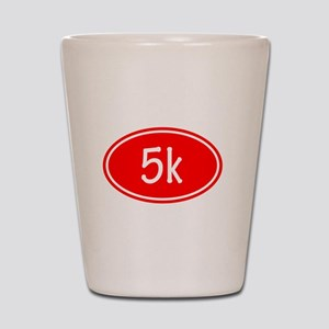 Red 5k Oval Shot Glass