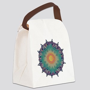 Pointy Lace sun Canvas Lunch Bag