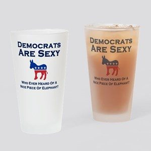 Democrats are Sexy Drinking Glass