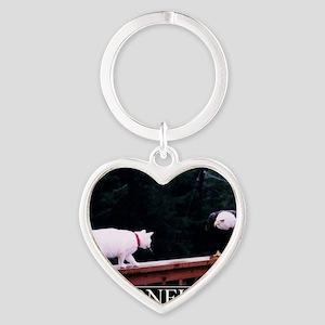 DeMotivational - Here kitty kitty k Heart Keychain