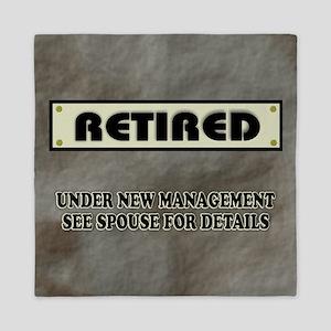 Retired Under New Management Queen Duvet