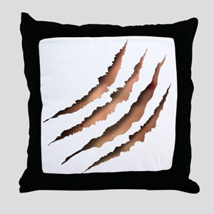 Clawmarks Throw Pillow