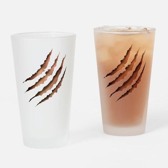 Clawmarks Drinking Glass