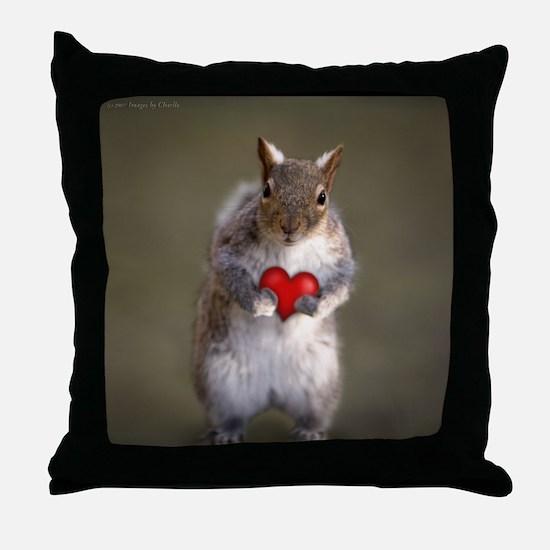 Cute Squirrel Lover's Throw Pillow