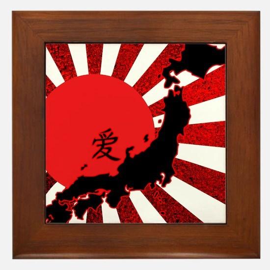 HopeforJapanRwsW Framed Tile