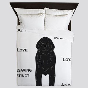 Whats in a Newf - Black Queen Duvet