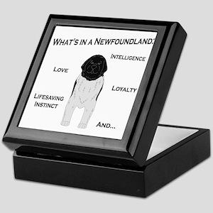 Whats in a Newf - Landseer Keepsake Box