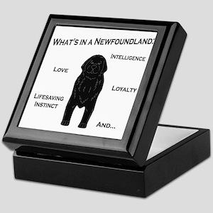 Whats in a Newf - Black Keepsake Box