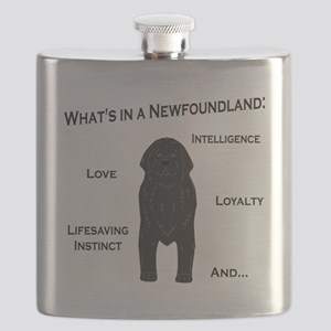 Whats in a Newf - Black Flask