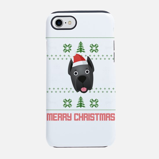 Cane Corso Santa Snow Christma iPhone 7 Tough Case