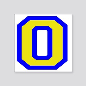 "plain oaker Square Sticker 3"" x 3"""