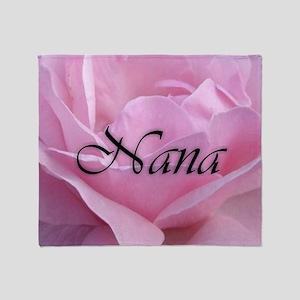 Nana Pink Rose Throw Blanket