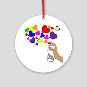 Love Spray Round Ornament