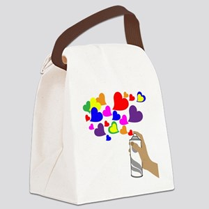 Love Spray Canvas Lunch Bag