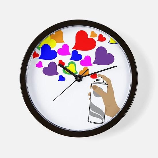 Love Spray Wall Clock