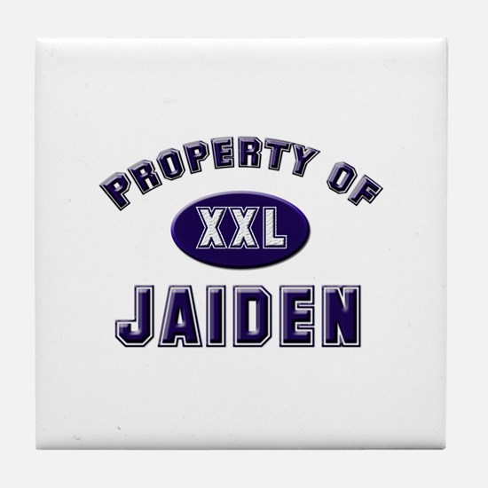 Property of jaiden Tile Coaster