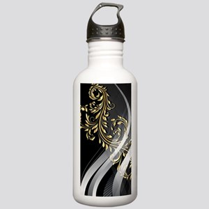Gold Silver Floral (3G Stainless Water Bottle 1.0L