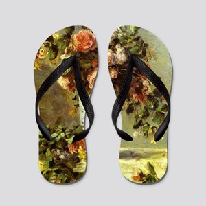 Roses and Jasmine Flip Flops