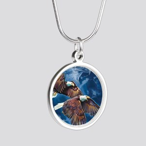 ip000662_1eagles3333 Silver Round Necklace