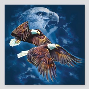 "ip000662_1eagles3333 Square Car Magnet 3"" x 3"""
