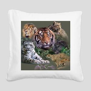 ip001528catsbig cats3333 Square Canvas Pillow