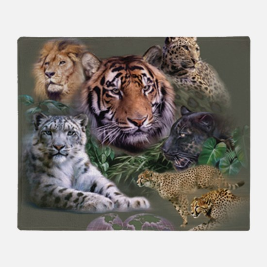 ip001528catsbig cats3333 Throw Blanket