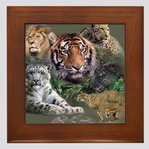 ip001528catsbig cats3333 Framed Tile