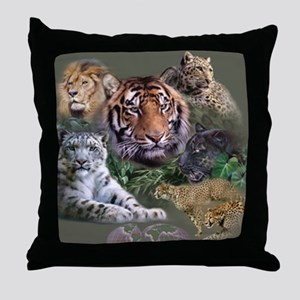 ip001528catsbig cats3333 Throw Pillow
