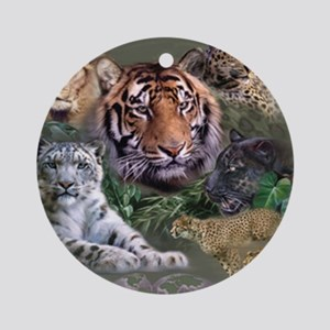 ip001528catsbig cats3333 Round Ornament