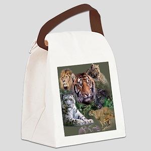 ip001528catsbig cats3333 Canvas Lunch Bag