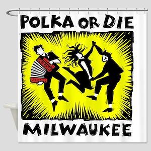 New Polka or Die Shower Curtain
