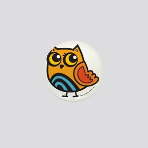 Colorful Owl Mini Button