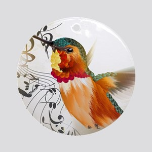 SONG BIRD Round Ornament