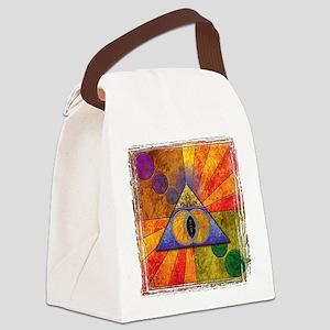 Sacred Pyramid Canvas Lunch Bag