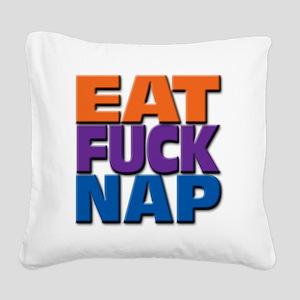 eatfucknap Square Canvas Pillow