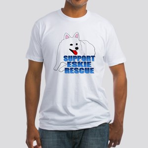 Support Eskie Rescue Fitted T-Shirt